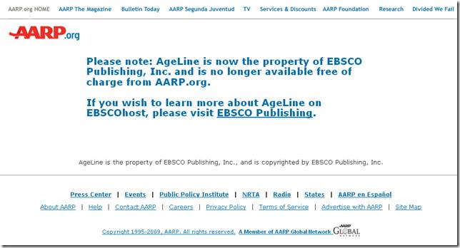 AARP Ageline
