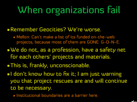 When organizations fail