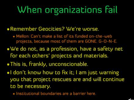 When organizations fail